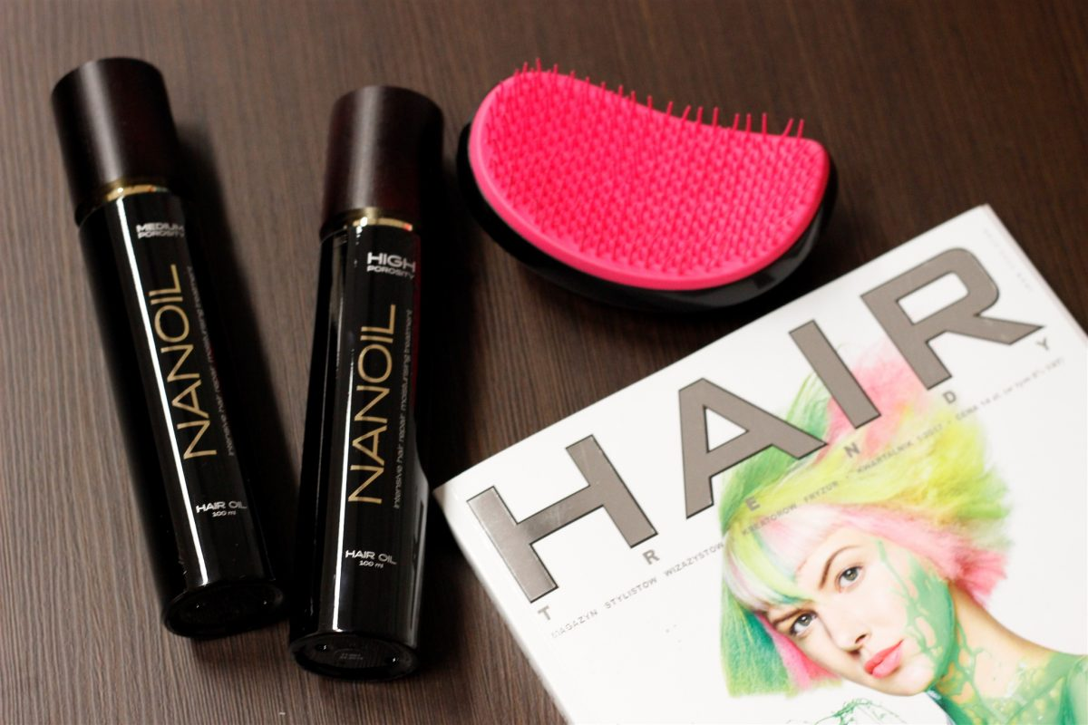 test olejków do włosów Nanoil